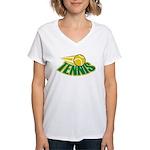 Tennis Attitude Women's V-Neck T-Shirt