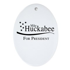 Mike Huckabee for Presdient Oval Ornament