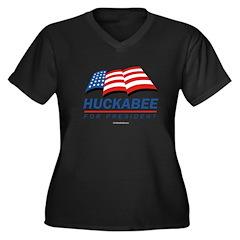 Huckabee for President Women's Plus Size V-Neck Da
