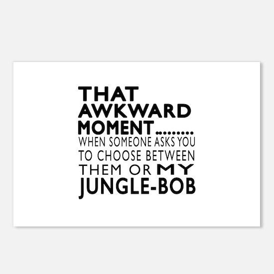 Awkward Jungle-bob Cat De Postcards (Package of 8)
