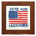 Vote for Huckabee Framed Tile