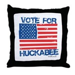 Vote for Huckabee Throw Pillow