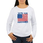 Vote for Huckabee Women's Long Sleeve T-Shirt