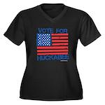 Vote for Huckabee Women's Plus Size V-Neck Dark T-