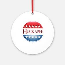 Huckabee Button Ornament (Round)
