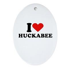 I Heart Huckabee Oval Ornament