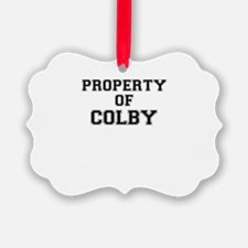 Property of COLBY Ornament
