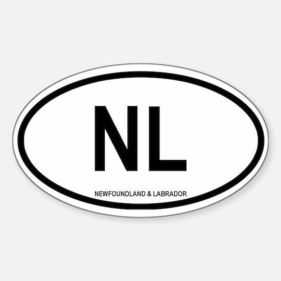 Newfoundland and Labrador Oval Decal