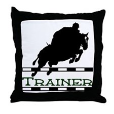 Jumping Trainer Throw Pillow