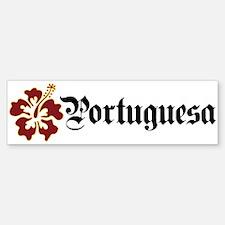 Portuguesa - Hibiscus Bumper Bumper Bumper Sticker