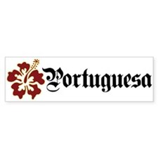 Portuguesa - Hibiscus Bumper Bumper Sticker