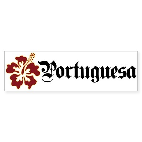 Portuguesa - Hibiscus Bumper Sticker