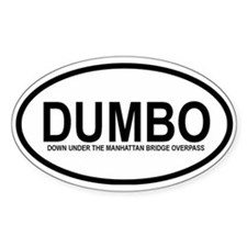 DUMBO Oval Decal