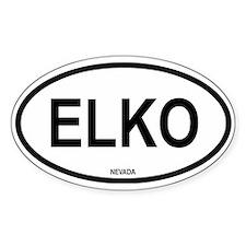 Elko Oval Decal