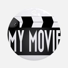 My Movie Clapperboard Round Ornament