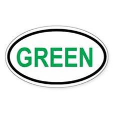 GREEN Oval Decal