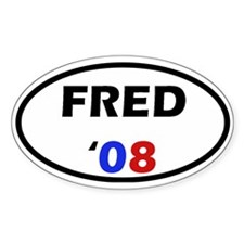 Fred '08 Oval Decal