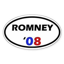 Romney '08 Oval Decal