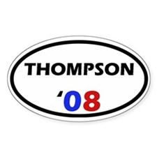Thompson '08 Oval Decal