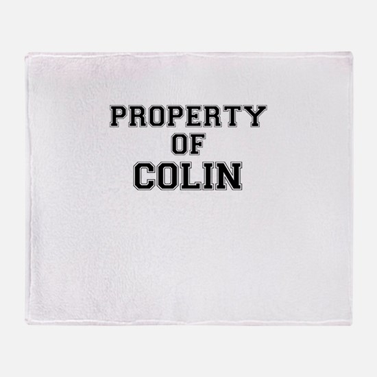 Property of COLIN Throw Blanket