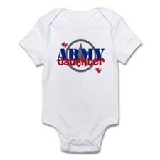 Army Daughter with Star and H Infant Bodysuit