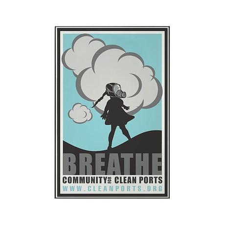 Breathe Rectangle Magnet (10 pack)