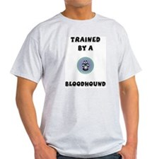 Trained by a Bloodhound Ash Grey T-Shirt