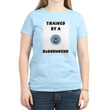 Trained by a Bloodhound Women's Pink T-Shirt
