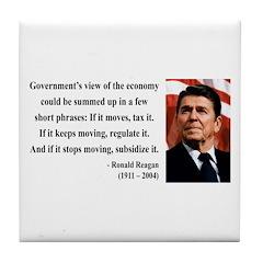 Ronald Reagan 1 Tile Coaster