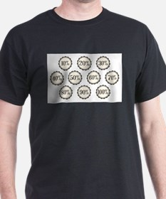 Percentage Off Buttons T-Shirt