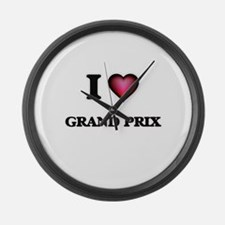 I love Grand Prix Large Wall Clock