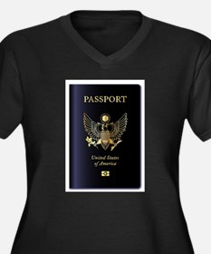 United States of America Passpor Plus Size T-Shirt