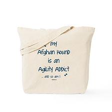 Afghan Hound Agility Addict Tote Bag