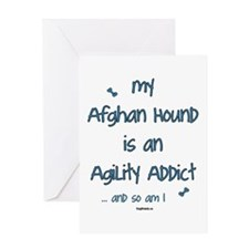 Afghan Hound Agility Addict Greeting Card