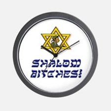 Shalom Bitches! Wall Clock