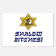 Shalom Bitches! Postcards (Package of 8)
