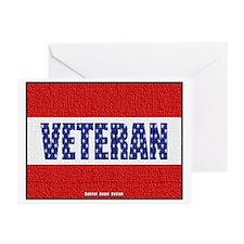 Veteran Flag Banner Greeting Cards (Pk of 20)