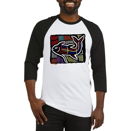 Mola Whale, Kuna art from San Baseball Jersey