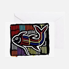 Mola Whale, Kuna art from San Greeting Card