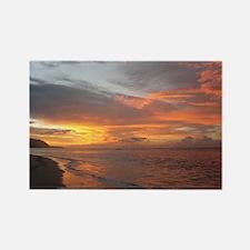 Sunset Swirls Rectangle Magnet