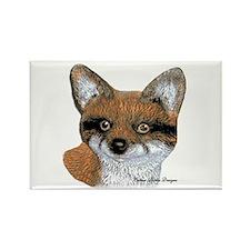 Fox Portrait Design Rectangle Magnet