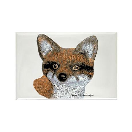 Fox Portrait Design Rectangle Magnet (100 pack)
