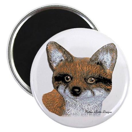 "Fox Portrait Design 2.25"" Magnet (100 pack)"