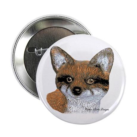 """Fox Portrait Design 2.25"""" Button"""
