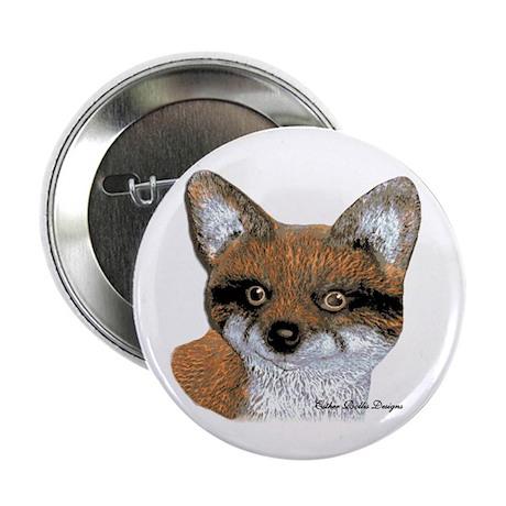 """Fox Portrait Design 2.25"""" Button (100 pack)"""