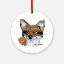 Fox Portrait Design Ornament (Round)