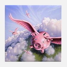 Pigs Away! Tile Coaster
