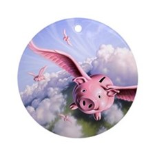 Pigs Away! Ornament (Round)