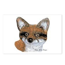 Fox Portrait Design Postcards (Package of 8)