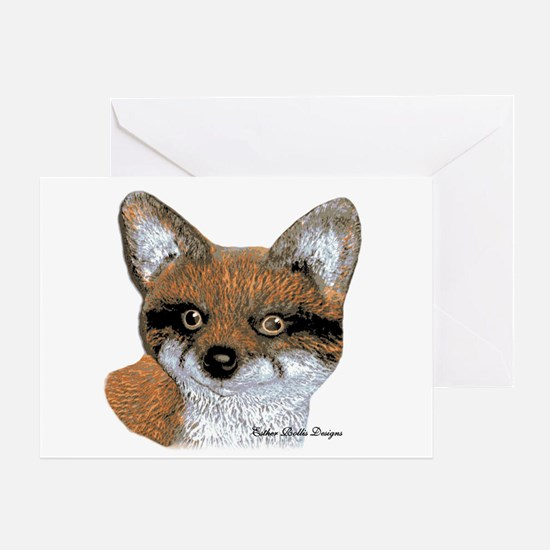 Fox Portrait Design Greeting Card